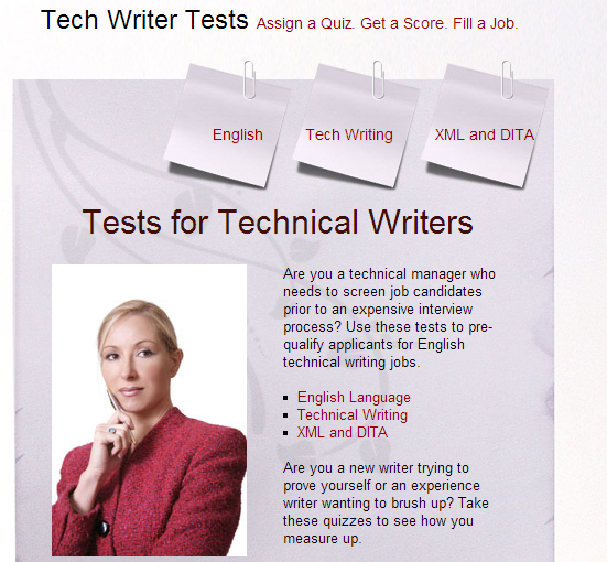 Tests for Technical Writers